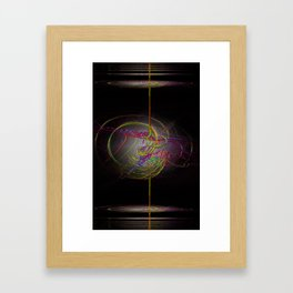 Neon Smoke  Framed Art Print