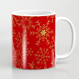 Red and gold snowflakes Coffee Mug