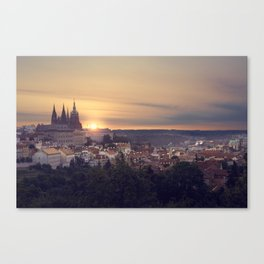 Sunrise in Prague Canvas Print