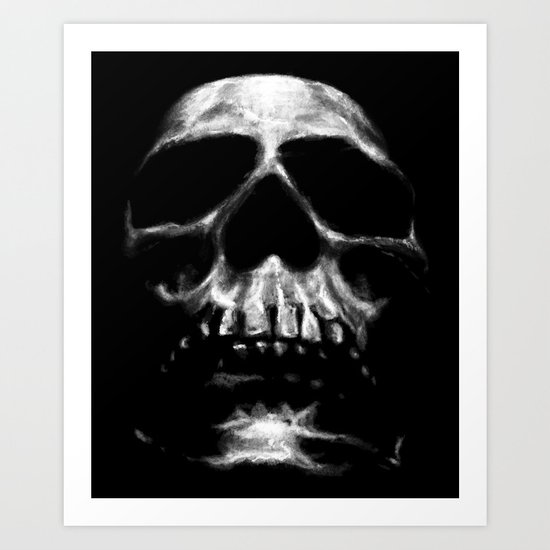 SKULL ON BLACK Art Print