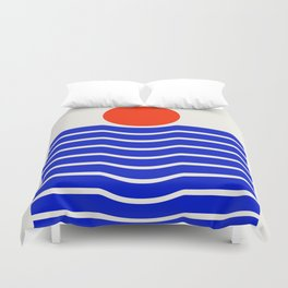 Going down-modern abstract Duvet Cover