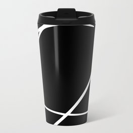 Black and White Circles and Swirls Modern Abstract Travel Mug