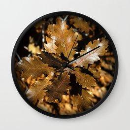 Oak Leaves Wall Clock