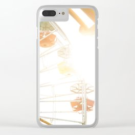Travel photography Santa Monica IX Ferris wheel Clear iPhone Case