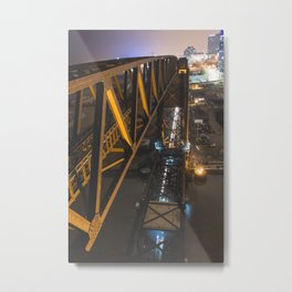 Lift Bridge at Night Metal Print