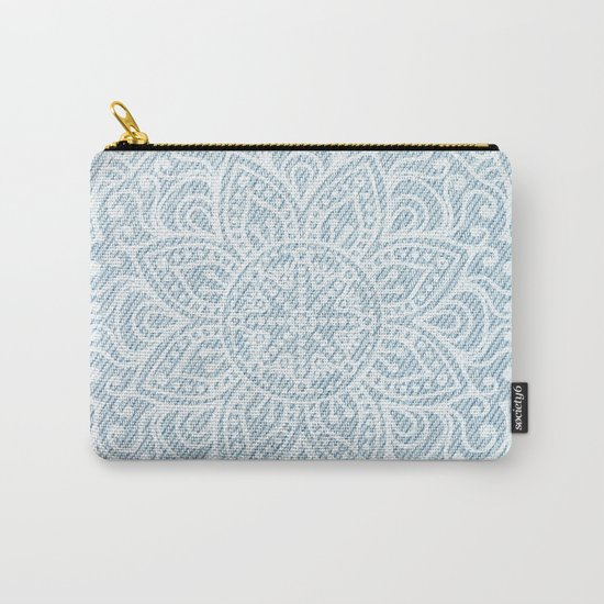Mandala on Light Blue Jeans Carry-All Pouch