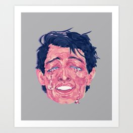 Attractive Crying Man Art Print