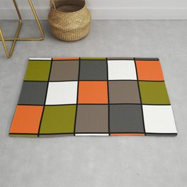 #Colorful #squares Rug