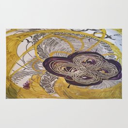Golden Toroidal Toroids of Love Rug
