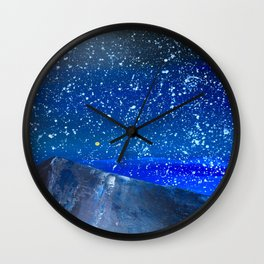 Moon Rising as an orange dot in the Great Sand Dunes National Park, USA travel Wall Clock