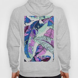 BANANA LEAF PALM PASTEL PINK AND BLUE Hoody