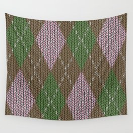 Pink Roses in Anzures 2 Argyle 1 Wall Tapestry