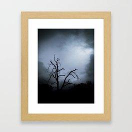 Storm is Brewing Framed Art Print