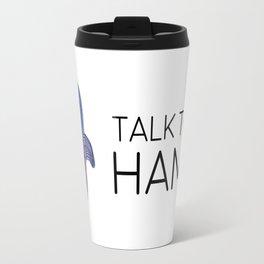 Talk to the Hamsa | B l a c k Travel Mug