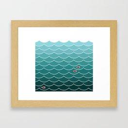 Deep Ocean Fish Framed Art Print