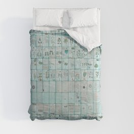 The Complete Voynich Manuscript - Blue Tint Comforters