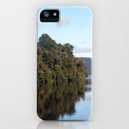 Morning skies over lake iPhone Case