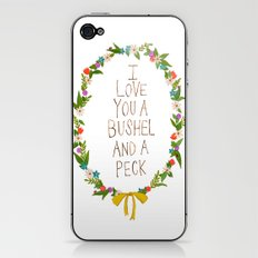 I love you and bushel and a peck iPhone & iPod Skin