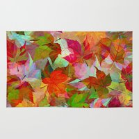 andreas preis Area & Throw Rugs featuring Autumn Leaves by Klara Acel