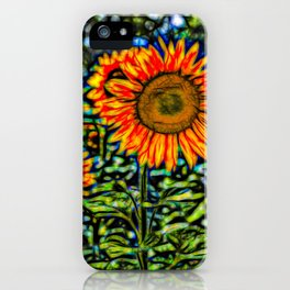 Sunflower Kaleidoscope iPhone Case