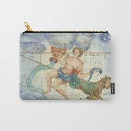 Vintage Print - J Flamsteed - Atlas Celeste (1776) - Capricorn & Aquarius Carry-All Pouch
