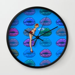 Haxed by Megahurtz - Hax! Girl Wall Clock