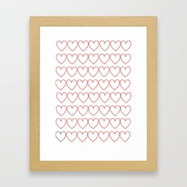 Love is easy Framed Art Print