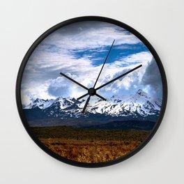 Ruapehu Wall Clock