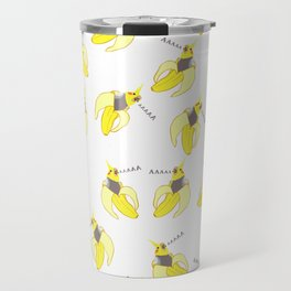 screaming banan cockatiel pattern Travel Mug