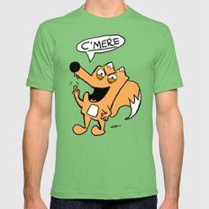 No Filter Fox - C'mere MEDIUM Mens Fitted Tee Grass