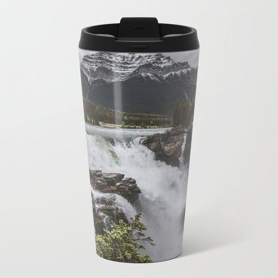 Athabasca Falls Mountain View Metal Travel Mug