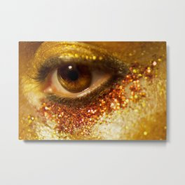 Glitter Nightmare Metal Print