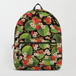 Strawberries Botanical Backpack