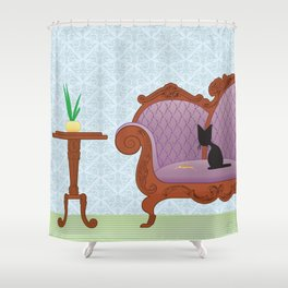The Naughty Kitten: Polite Company Shower Curtain