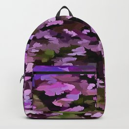 Foliage Abstract Pop Art In Ultra Violet and Purple Backpack