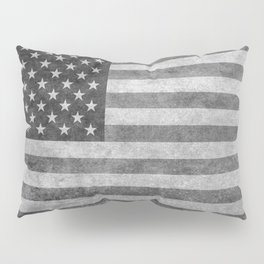 American flag - retro style in grayscale Pillow Sham