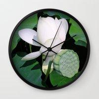 lotus Wall Clocks featuring Lotus. by Assiyam