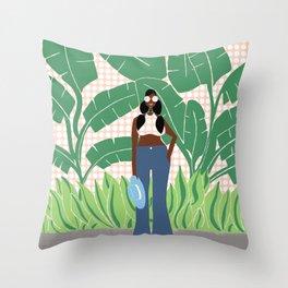 The Lovely Bambi Throw Pillow