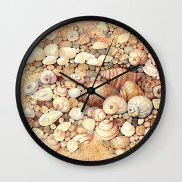 Shells on Sand Wall Clock