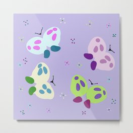 Baby Butterflies Metal Print