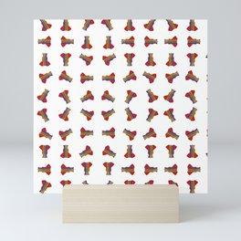 Rainbow Ganesha Pattern (White) Mini Art Print
