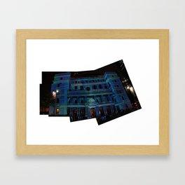 vivid lightshow Framed Art Print