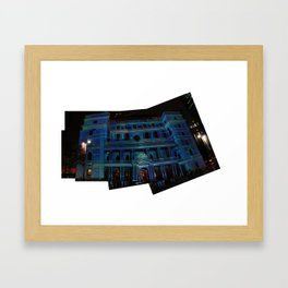 vivid lightshow Framed Art Print