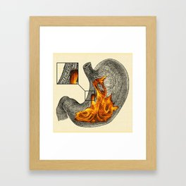 Fire In My Belly Framed Art Print