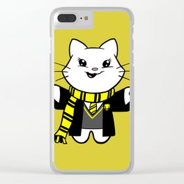 Wizardkitty Badger House! Clear iPhone Case