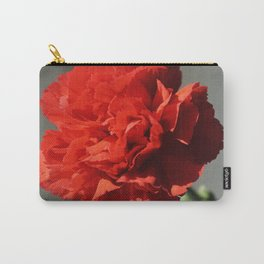 Beautiful Red Carnation Flower Photograph Carry-All Pouch