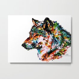 'Grey' Wolf Metal Print