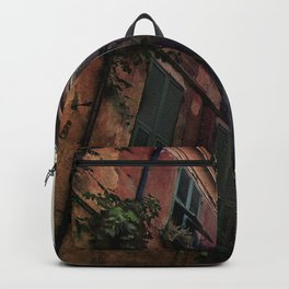 windows of Cinque Terre Backpack
