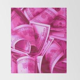 Pink Barbie Benjamins Throw Blanket