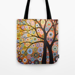 Abstract Art Landscape Original Painting ... Twin Desires Tote Bag